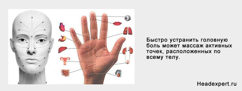 Точечный массаж активных точек — хорошее средство от многих болезней