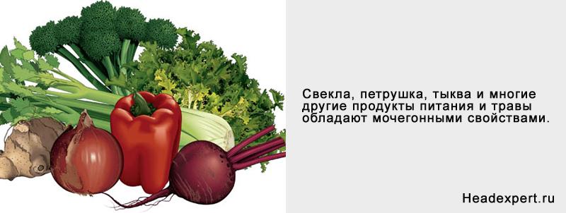 Продукты питания - природные диуретики