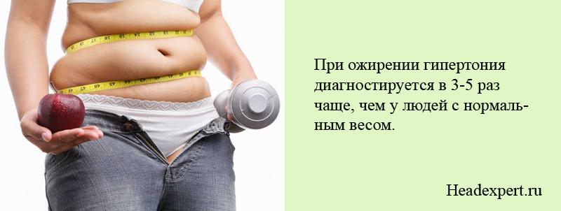 Ожирение - существенный фактор развития гипертонии