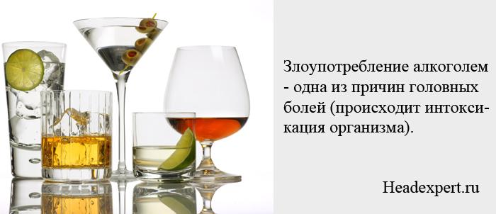 Алкоголь может стать причиной интоксикации организма