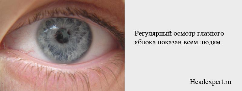 Осмотр глазного яблока показан всем людям